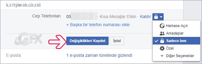 Facebook'a kayıtlı telefon numarasının görünürlüğünü değiştirme -www.ceofix.com