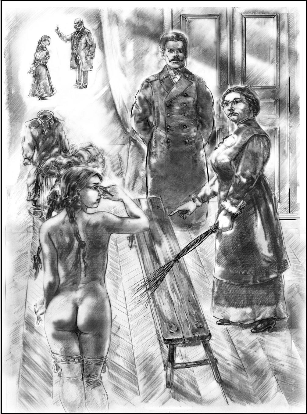 порка женщин на лавке