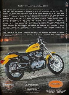 sportster 1200 s 1998 pubblicità carlo talamo