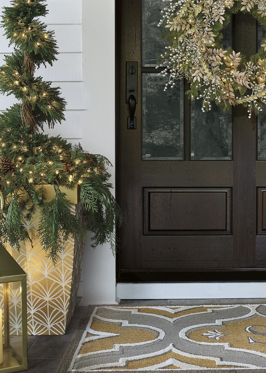 FRONTGATE METALLIC HOLIDAY DECOR