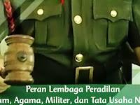 Peran Lembaga Peradilan (Umum, Agama, Militer, Tata Usaha Negara)