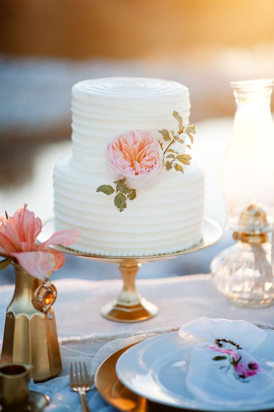 White Wedding Cakes 56 Spectacular Two Tier Pure White