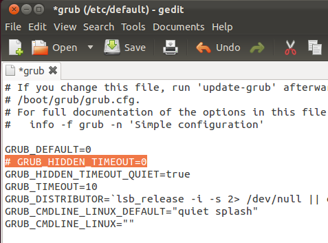 How To Configure Ubuntu To Stop At The GRUB2 Boot Menu At System Reboot