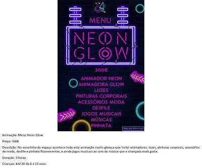 Animação Menu Neon Glow