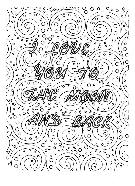 Love You To The Moon And Back Coloring Page Click To Download On Etsy