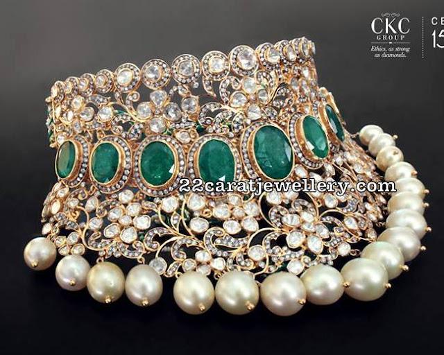Pachi Work Heavy Bridal Choker by CKC
