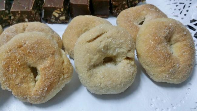 unas rosquillas recubiertas de azúcar