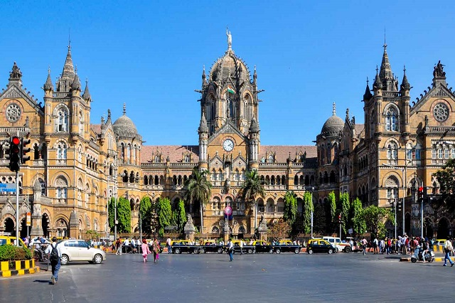 Chhatrapati Shivaji Terminus - An historic railway station in Mumbai and World Heritage Site.