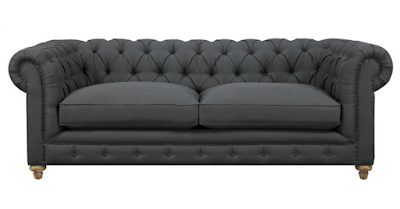 affordable gray chesterfield sofa