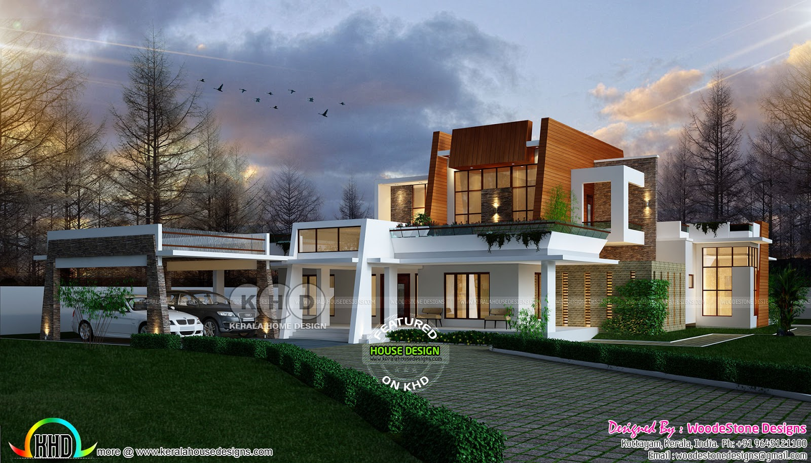 4 Bedroom Contemporary Home By WoodeStone Designs From Kottayam
