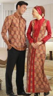 Model Baju Batik Gamis Sarimbit Serasi
