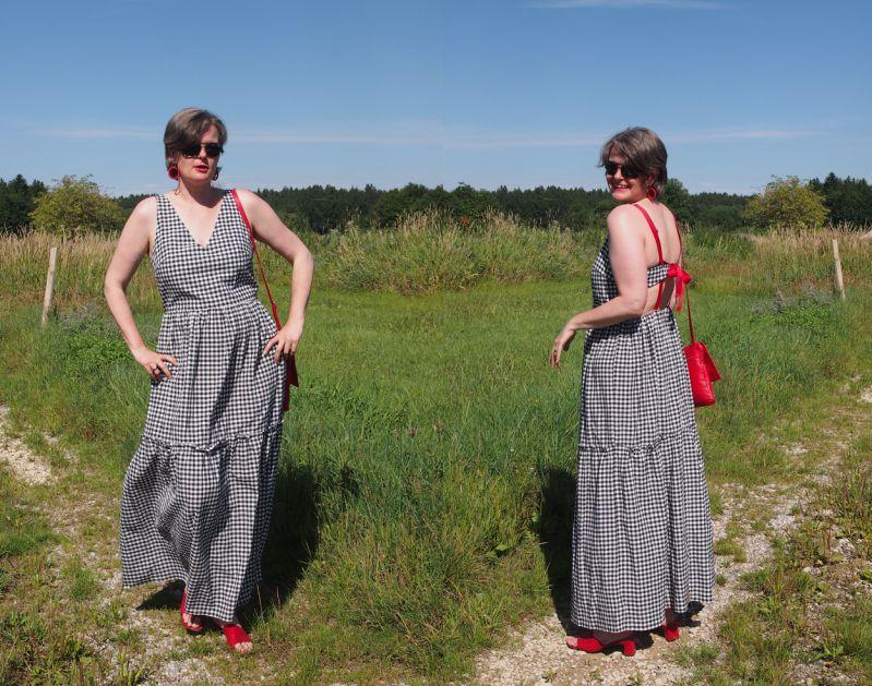 Maxikleid: So style ich den Gingham-Trend