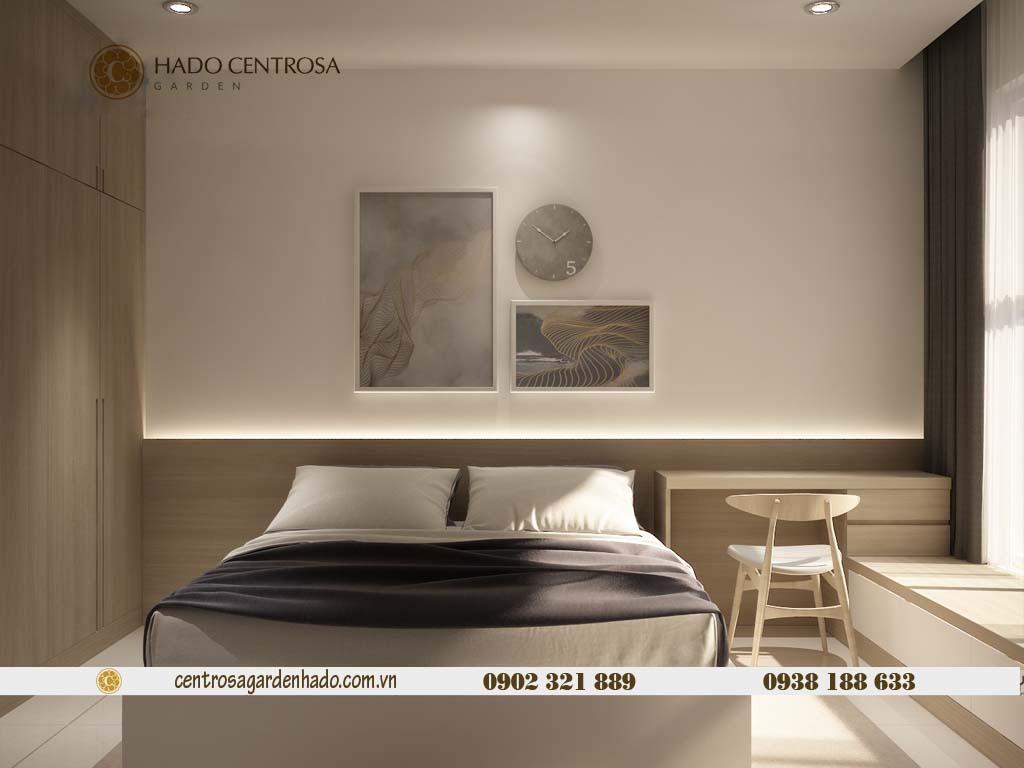 Căn hộ 1 phòng ngủ cho thuê HaDo Centrosa tầng cao | ảnh 3D 7