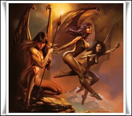 Resultado de imagen de Tisífone, Alecto y Megera, las Erinias o Furias, viven en el Erebo