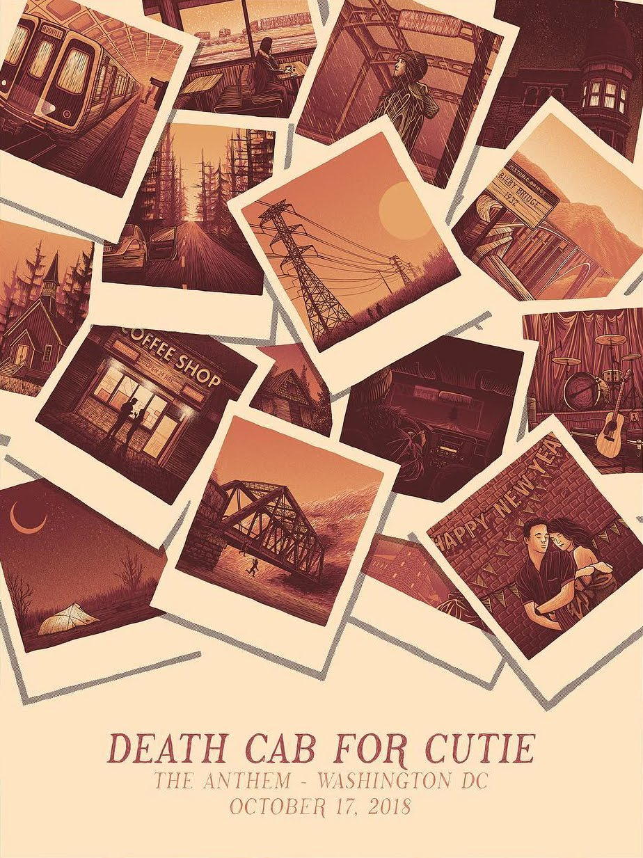 coolart death cab for cutie at washington dc print by luke martin