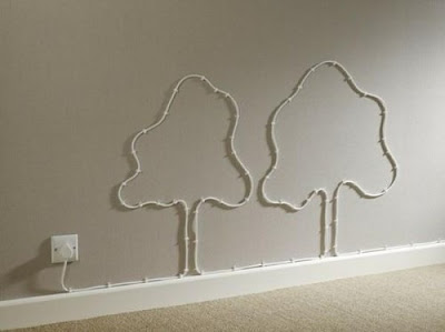 Ideias criativas de decoração para organizar fios elétricos expostos
