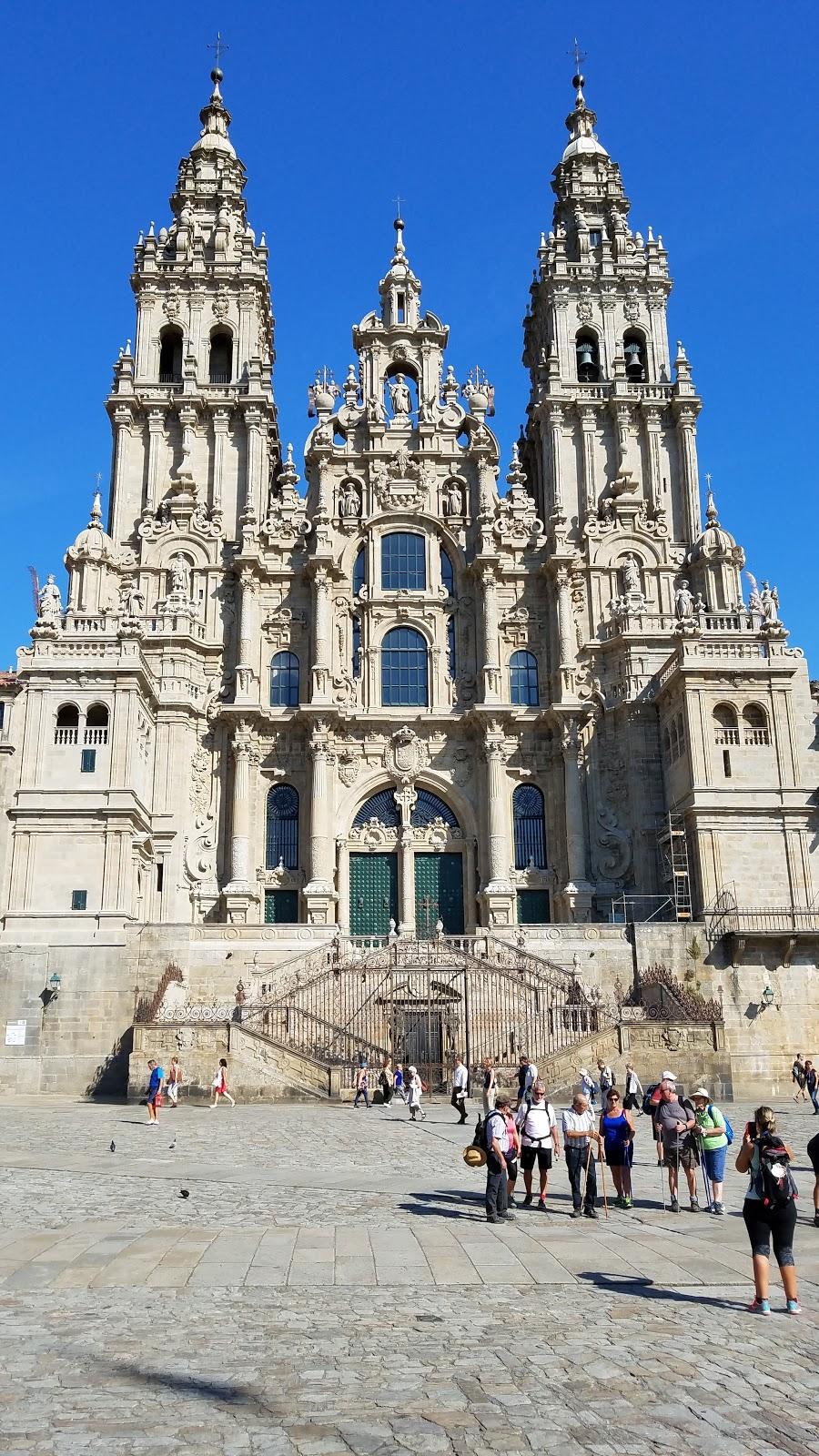 The Cathedral of Santiago de Compostela where the bones of the Apostle Saint James lie interred beneath the altar.
