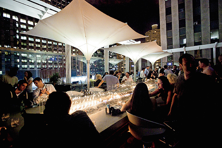 The World's 30 Best Rooftop Bars… Everyone Should Drink At #9 At Least Once. - #25. The Roof in the Wit hotel in Chicago has a retractable ceiling.