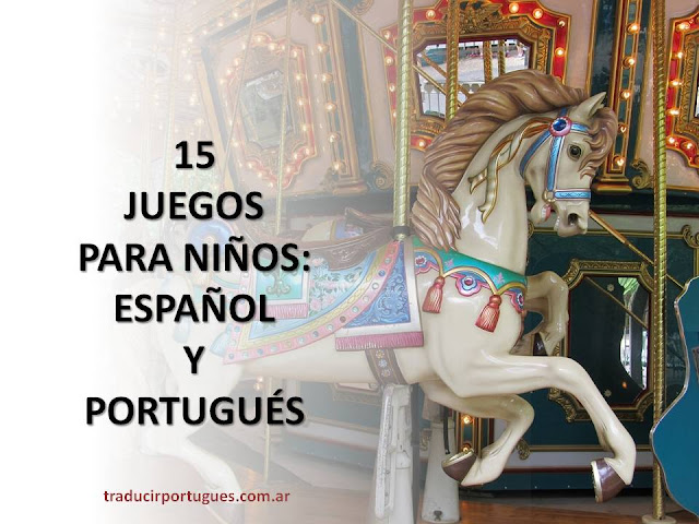 juegos, jogos, niños, crianças, portugués, espanhol, tobogán, escondidas, balanço, arenero, calesita, hamaca, escorregador, piscina de bolinhas, pelotero