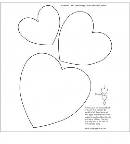 heart hanger Smarty Pants Fun Free Printable Crafts Free Printable ...