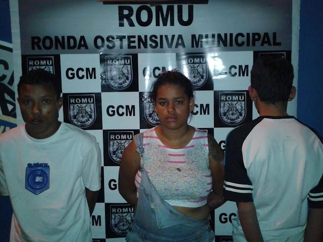 Rondas Ostensivas Municipais (ROMU) de Aparecida de Goiânia (GO) detém traficantes no terminal Araguaia