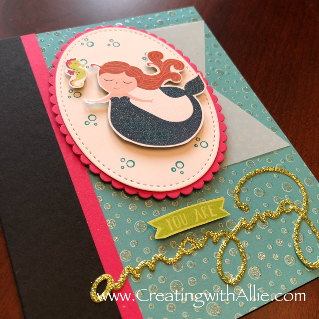 Check out the video tutorial with some AMAZING tips and tricks for making cards using Stampin Up's Magical Day bundle!  You will love how quick and easy this is to make!  www.creatingwithallie.com #stampinup #alejandragomez #creatingwithallie #videotutorial #cardmaking #papercrafts #handmadegreetingcards #fun #creativity #makeacard #sendacard #stampingisfun #sharewhatyoulove #onestampsetdifferentlooks #kidscards