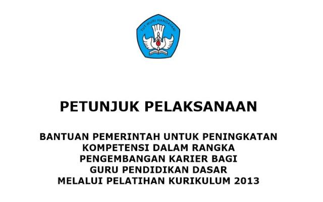 Juklak Bantuan Pemerintah Untuk Pengembangan Karier Bagi Guru Pendidikan Dasar Melalui Pelatihan Kurikulum 2013