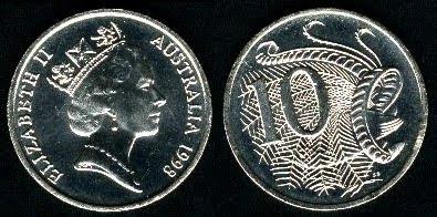 Australia 10 Cents (1985-1998) 1990