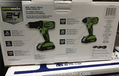 Costco 709992 - GreenWorks Drill Driver/Impact Driver Combo Kit - great for DIY projects around the house