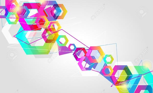 Beautiful Abstract Vector Background With Bright Multicolor Lines Stock  Vector