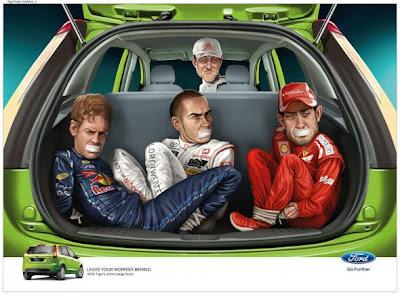 Michael Schumacher campaña de Ford Publicidad Creatividad