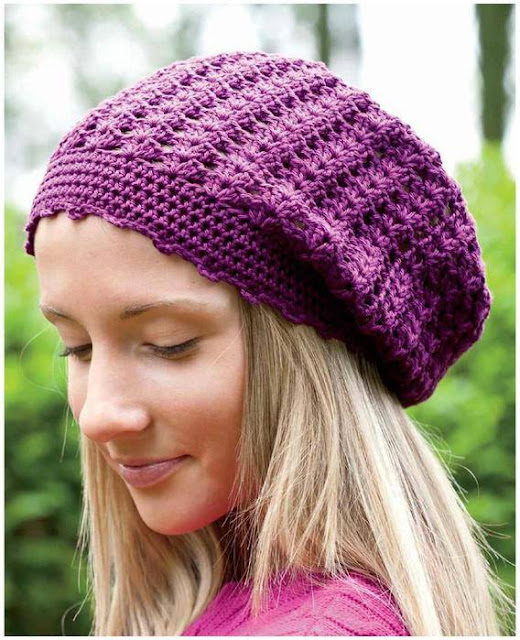 Patrón #1144: Gorro a Crochet