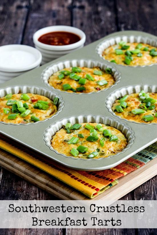 Southwestern Crustless Breakfast Tarts found on KalynsKitchen.com