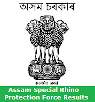 Assam Special Rhino Protection Force Results