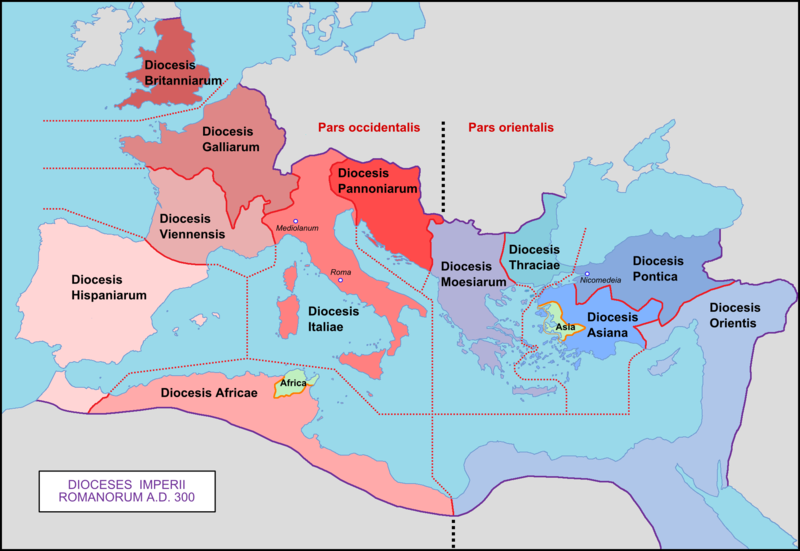 Orate Fratres: The Dioceses Of Emperor Diocletian