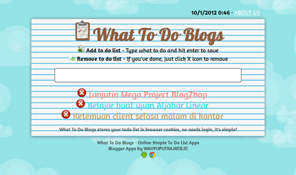 Free WhatToDo - Simple Blogger Template
