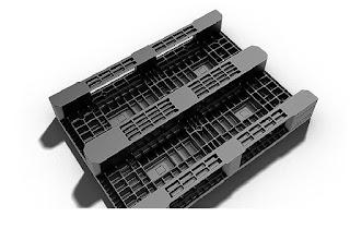 Palet-plastico-Fortex-1200x 900x160 mm-Patines