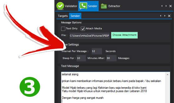 Kirim Promosi menggunakan Fitur: Whatsapp Sender - WASenderPro: Sofware Promosi yang Wajib Dimiliki Semua Internet Marketer
