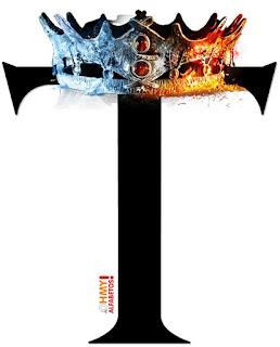 Abecedario con Corona de Juego de Tronos. Alphabet with GoT Crown.