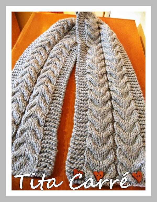 """Cachecol de lã """"térmica"""" em tricot"""