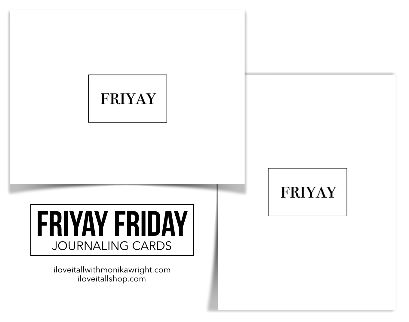 Friyay Friday | Free Journaling Cards