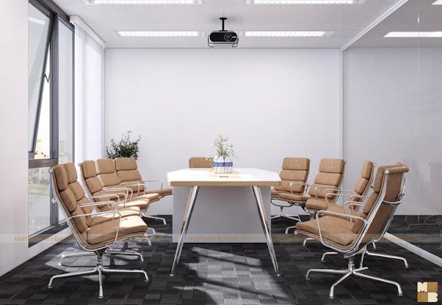Thiết kế nội thất phòng họp cần lựa chọn những đồ nội thất phòng họp thật công năng và mang tính thẩm mỹ tạo sự thoải mái