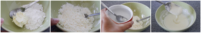 Mixing hard set icing for homemade dog treats, step-by-step