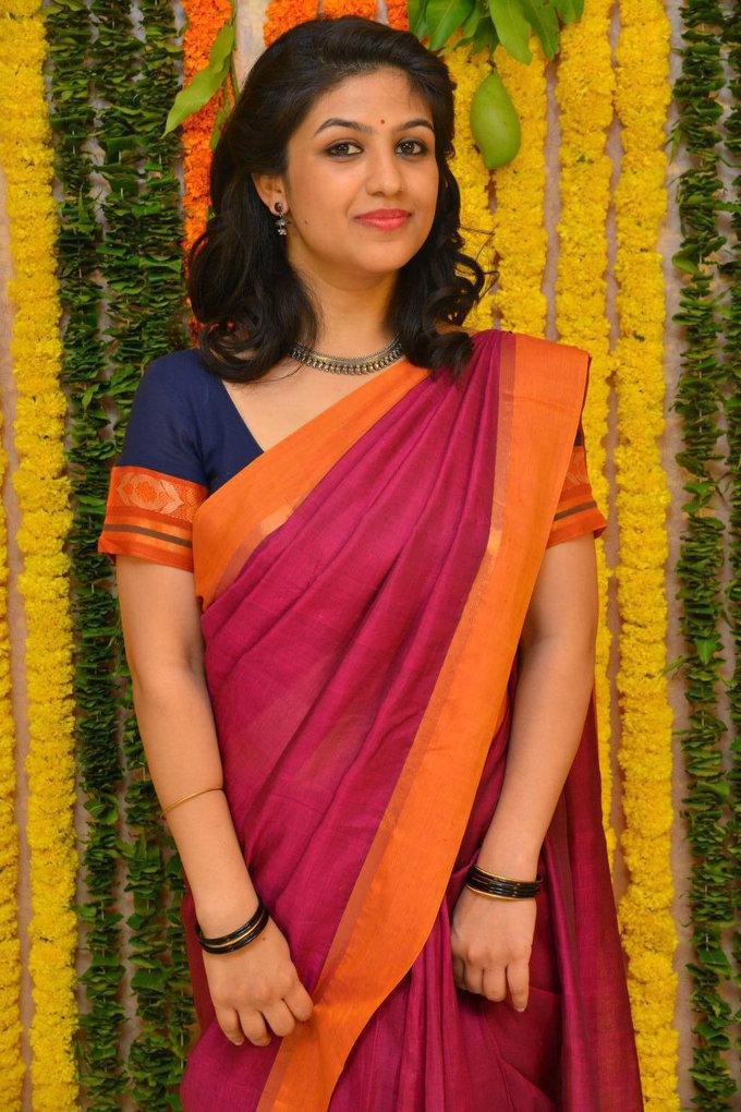 Tamil Actress Supriya Aysola Stills In Orange Saree