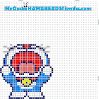 hama beads mini doraemon2