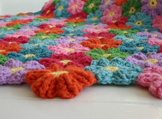 Waikiki Wildflower Blanket crochet pattern by Susan Carlson of Felted Button