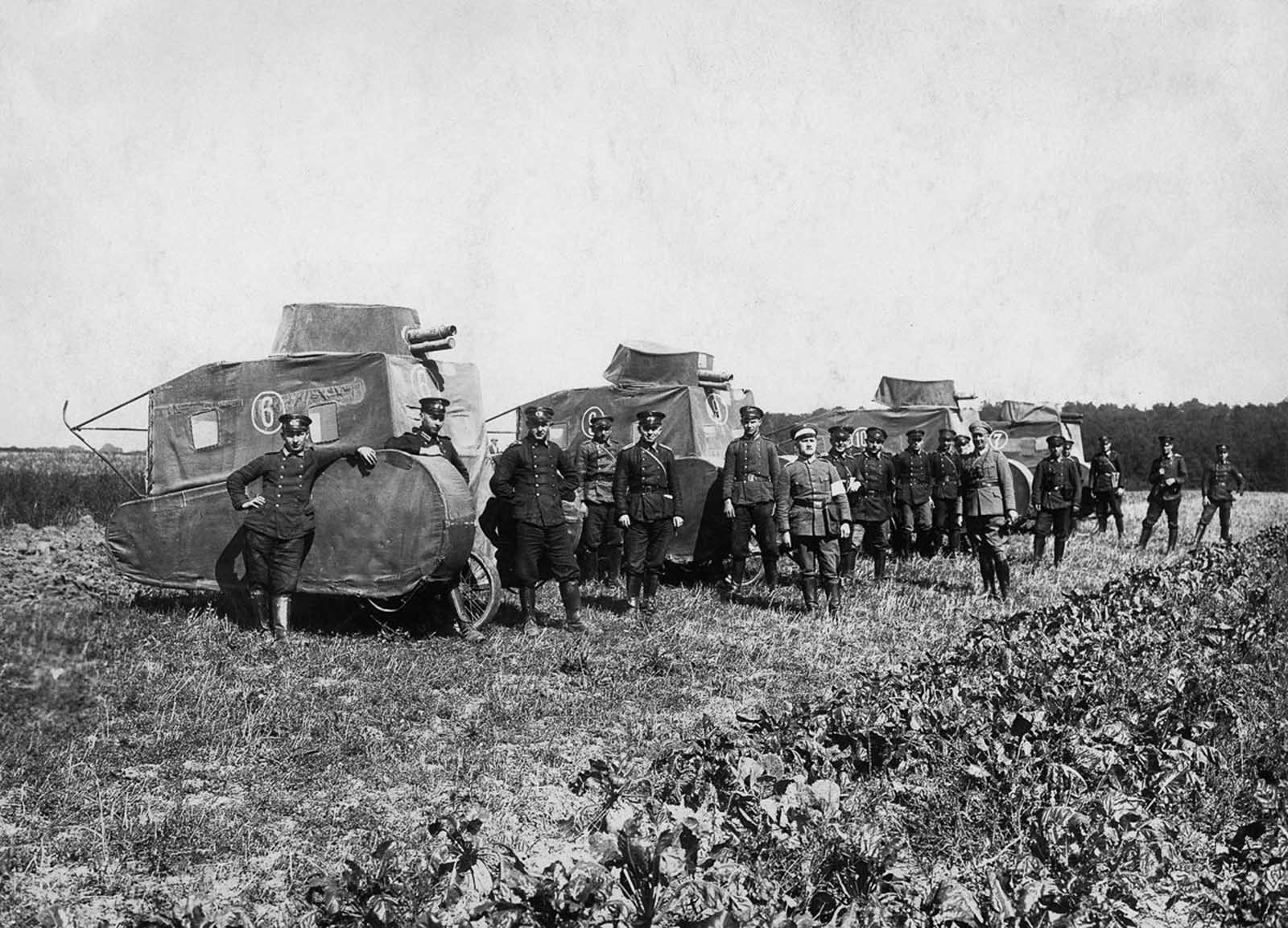 German dummy tanks. 1926.
