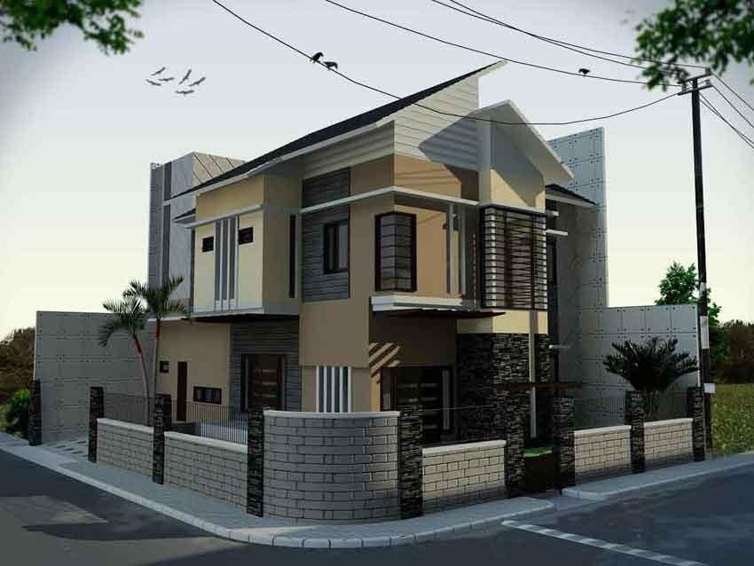 desain rumah 2 lantai hook 1