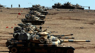 Turkish army has sent a military column, including fiver tanks
