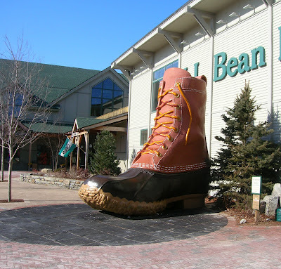 LL Bean boot at Freeport Maine store
